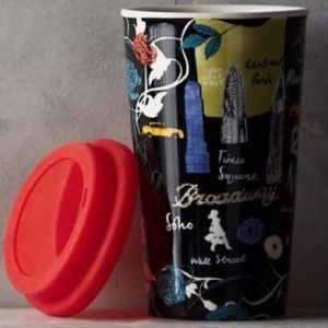 Anthropologie Josie Shenoy New York Travel Mug NIB